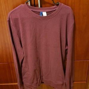 H&M maroon crewneck sweater